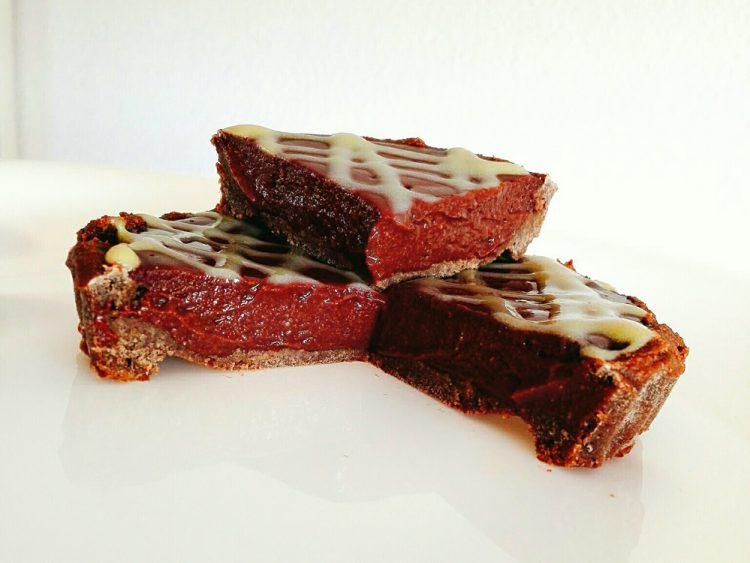 Tartaletas de Chocolate Proteicas (detalle del corte)