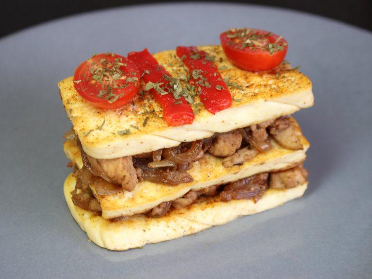 Lasaña de Tofu y Pollo
