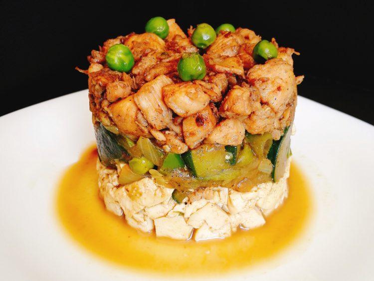 Timbal de Pollo, Tofu y Verduras