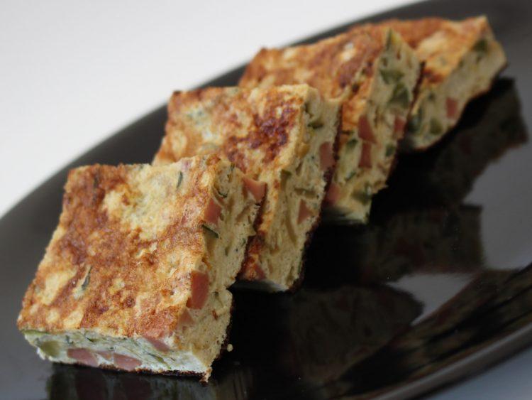 Tortilla Fit de Calabacín y Cebolla