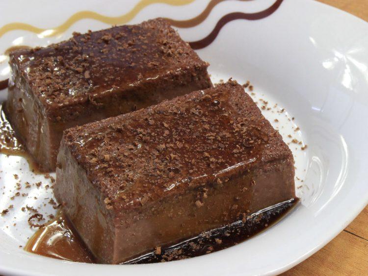Flan Proteico de Chocolate y Queso