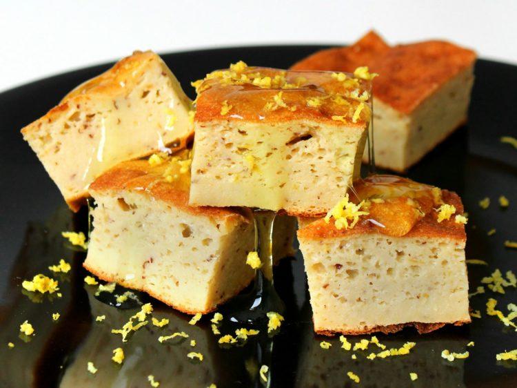 Pastel Proteico de Jínjoles y Limón