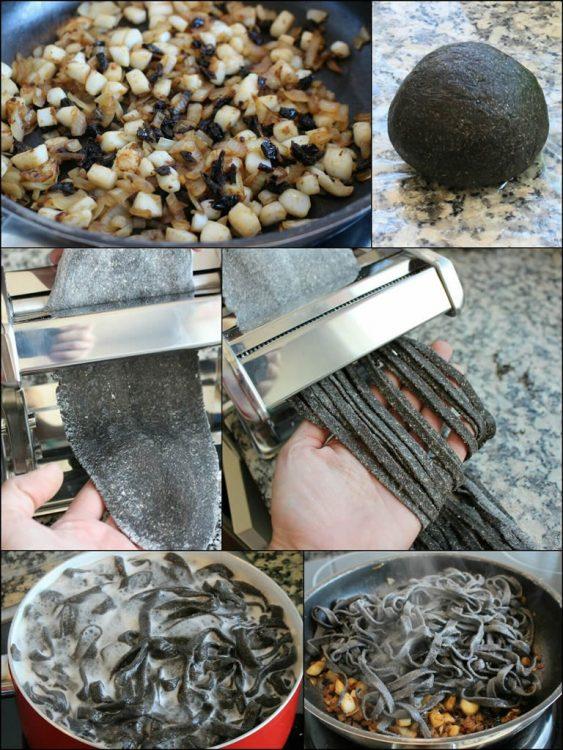 Fettuccine Integral de Sepia (elaboración)