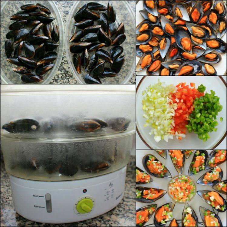 Mejillones a la Vinagreta (preparación)