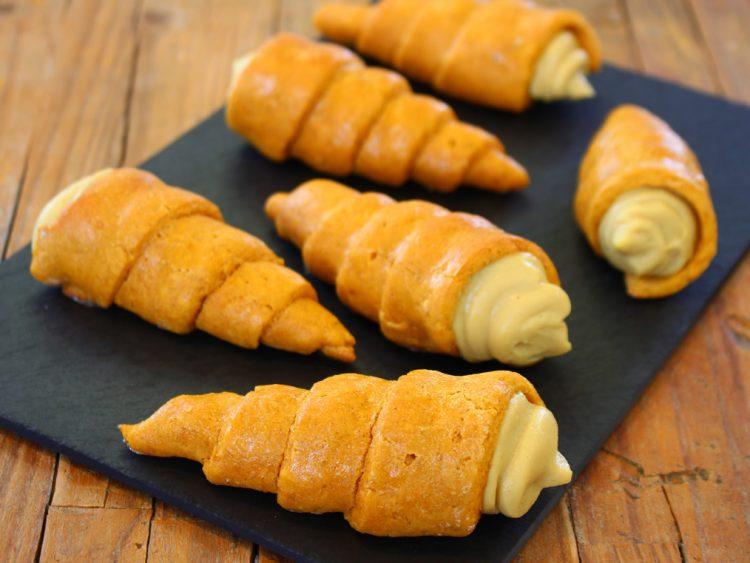 Caracolas Fit Rellenas de Crema (conos o cucuruchos)