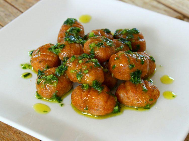 Ñoquis Integrales de Batata y Queso (sin huevo)