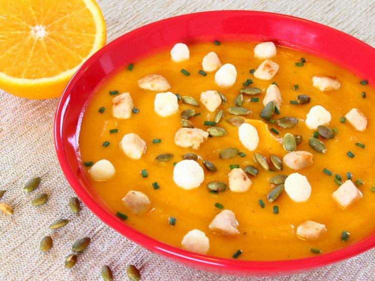 Crema de Calabaza Fit con Boniato y Naranja