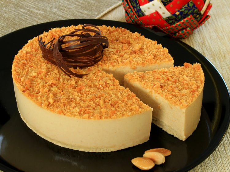 Tarta de Turrón Fit (estilo cheesecake sin horno)