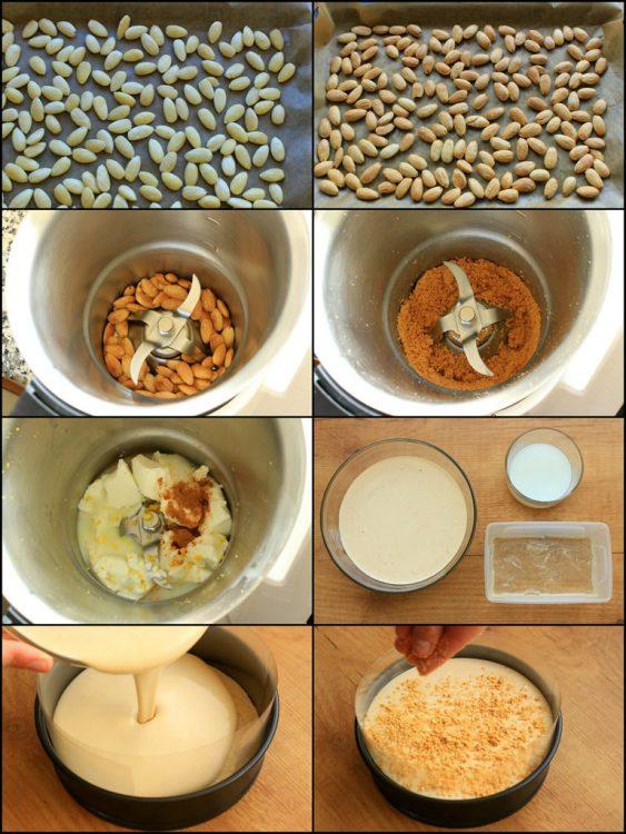 Tarta de Turrón Fit (estilo cheesecake sin horno) (preparación del relleno))