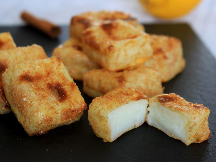 Leche Frita Fit (sin freír, sin azúcar y al horno) (detalle del interior)