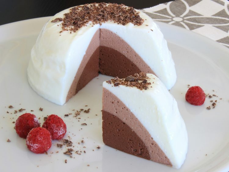 Tarta Mousse Tres Chocolates Fit