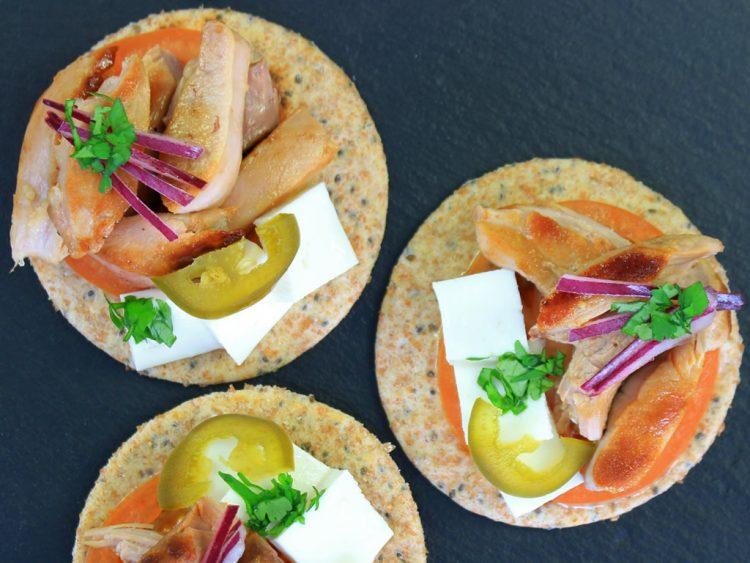 Tortillas Integrales de Espelta (para Fajitas Fit) (como canapés de pavo)