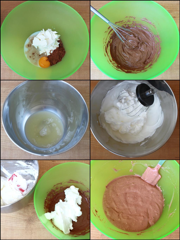 Tarta de Queso Japonesa de Chocolate Fit (cheesecake ligero y esponjoso) (preparación)
