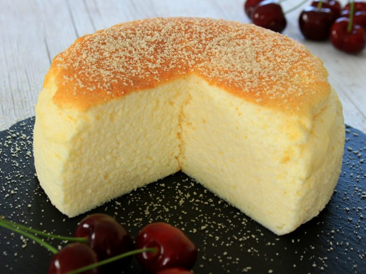 Pastel de Queso Japonés Fit (cheesecake light)