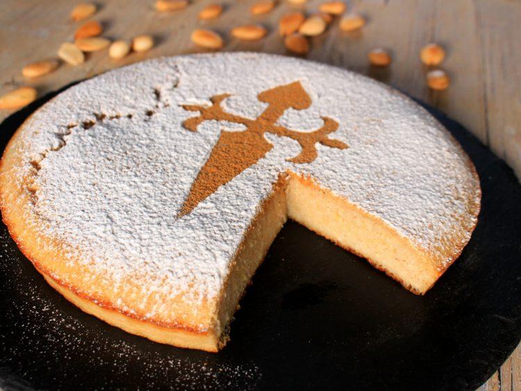 Tarta de Santiago Fit (torta de almendra sin azúcar ni harina)