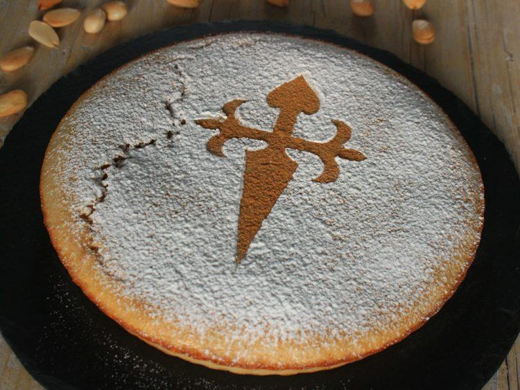 Tarta de Santiago Fit (torta de almendra sin azúcar ni harina) (presentación)
