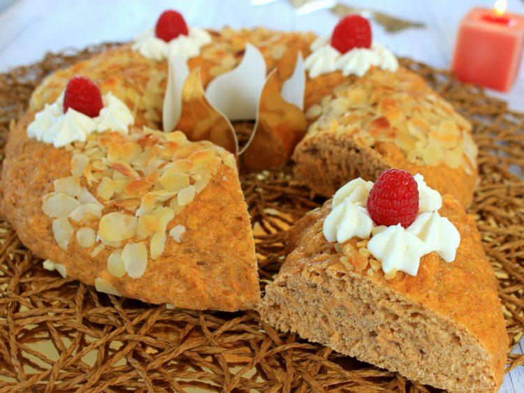 Roscón de Reyes Fit (sin azúcar, integral y saludable) (corte)
