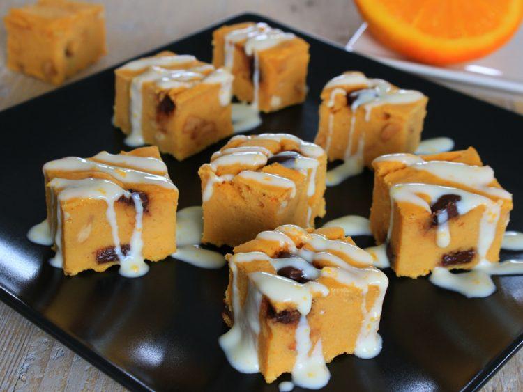 Blondie de Naranja, Almendras y Chocolate Fit (tipo Brownie)