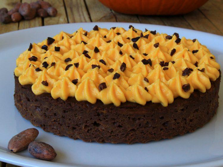 Pastel de Calabaza y Chocolate Fit (Pumpkin Cake) (detalle)