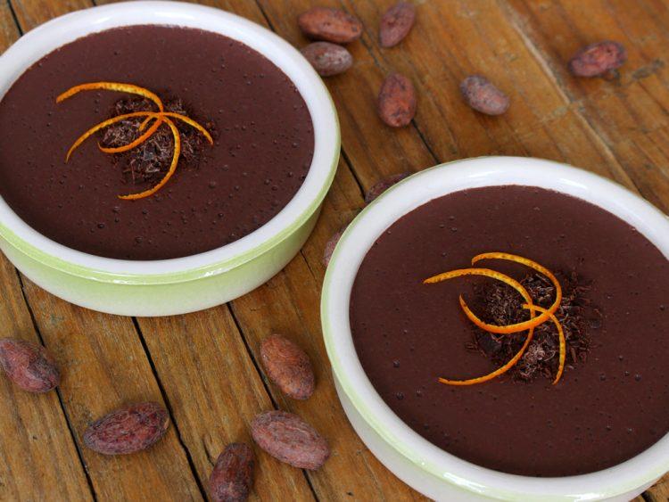Natillas de Chocolate y Naranja Sin Azúcar (en microondas) (presentación)